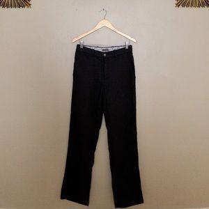 DENVER HAYES men's dress pants, black tweed